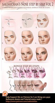 Nose step by step Vol 2 tutorial (term 5 reward) https://www.patreon.com/creation?hid=1510431&rf=371321