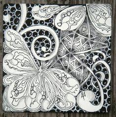 Zentangle by Maria Thomas, one of Zentangle's founders.