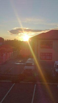 Gleaming sunset.