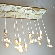 If I could afford it. The surf lodge nights chandelier by Urban Chandy - made from reclaimed barn wood and vintage-style Edison bulbs Decor, Interior, Hanging Lights, Wood Chandelier, Ceiling Lights, House Styles, Light Fixtures, Home Decor, Home Lighting