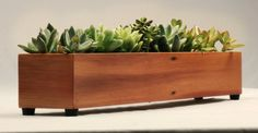 Long Window Box Succulent Planter in Reclaimed by andrewsreclaimed
