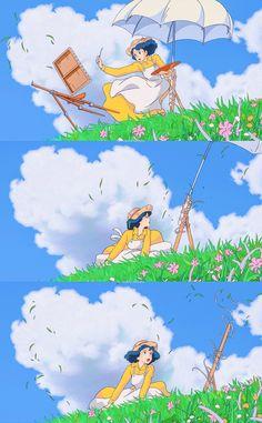 Studio Ghibli Art, Studio Ghibli Movies, Studio Ghibli Background, Le Vent Se Leve, Wind Rises, Anime Scenery Wallpaper, Anime Films, Totoro, Jiro Horikoshi