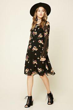 Contemporary Poppy Print Dress