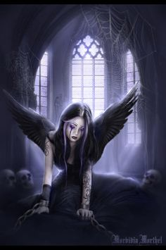 goth fairy with angel of death | Gothic Fairies and Angels http://www.fairiesvampires.com/photo/gothic ...