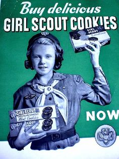Vintage Girl Scout Cookie posters--fun!