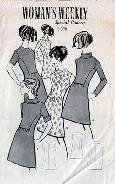 1960s Mini Dress Pattern Woman's Weekly Mail by BessieAndMaive