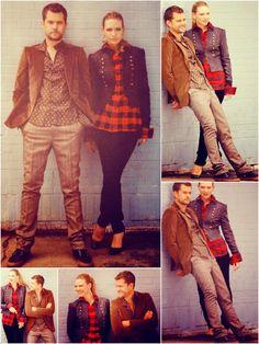 Anna Torv and Joshua Jackson