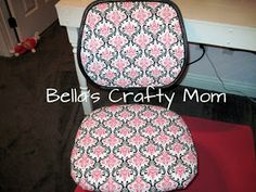 Bella's Crafty Mom: Computer Chair Re-Covered