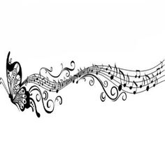 Evalley Butterfly & Music Notes Wall Stickers Flower Wall Decals ...