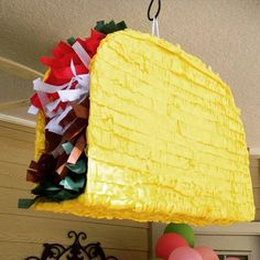 I want a piñata like this that is filled with tacos at my next party. #Texas  Photo by @pwagon by texashumor