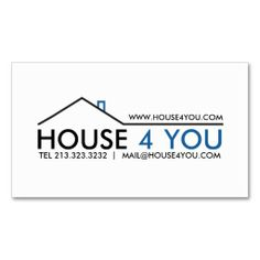 Real Estate Business Card. Make your own business card with this great design. All you need is to add your info to this template. Click the image to try it out!
