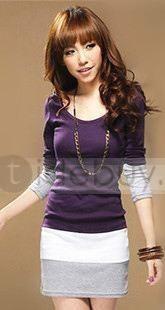 Sweet New Arrival Korean Style Slim Long Sleeves Dress : Tidebuy.com