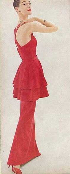 Barbara Mullen, October Vogue 1955