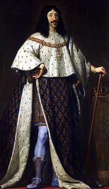 Louis XIII (le Juste) de BOURBON °27-09-1601 +14-05-1643 Dauphin de Viennois, Roi de France Ep.de Anne d'AUTRICHE
