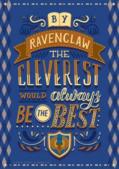 Hogwarts Houses Hand-lettered Posters: Collaboration piece by Risa Rodil & Abbey Sy (2/4)