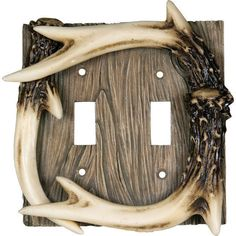 Deer Antler Burl Shower Curtain Hooks