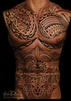Full front body Hawaiian tattoo with rich symbols – sun, shark teeth, ocean, shells Among various tattoo designs, tribal tattoos always take up important position as this particular pattern of design has been practiced for centuries by the native people… Continue Reading →
