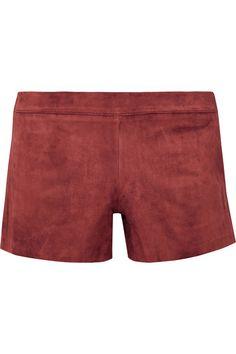 Tory Burch | Nubuck shorts | NET-A-PORTER.COM