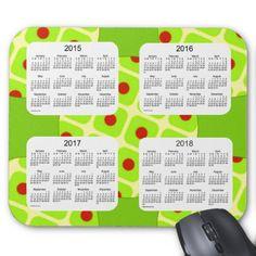 2015-2018 Art Deco Green Calendar by Janz Mousepad