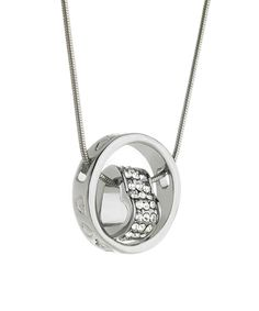 Take a look at this Crystal & White Gold Heart Pendant Necklace on zulily today!