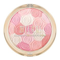 Dust Milani Illuminating Face Powder in Beauty's Touch over your cheeks for a luminous glow.