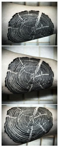Wood tattoo - A ring for every year