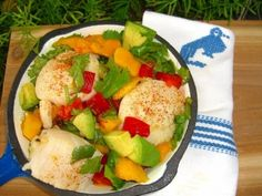 Eat Clean Recipe for Summer Scallop Salad with Mango, Red Pepper & Avocado