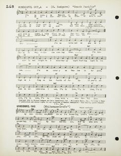 """A songbook owned by Marilyn Monroe. """"Standard Foxtrots and Show Tunes,"""" """"Latin American Tunes"""" and """"Foreign Songs."""" One page has a pencil notation beneath the song """"You Do Something To Me"""" by Cole Porter; the writing is quite small and difficult to identify the hand. It is from this book that certain three-digit numbers mentioned in some of Monroe's notebooks were thought to have originated, like the numbers 262 and 263 in Lot 192."""