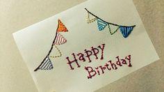 紙刺繍のやり方。おしゃれで可愛いアイディアつきで紹介。 | iemo[イエモ] Paper Embroidery, Message Card, Needlework, Diy And Crafts, Cross Stitch, Wraps, Messages, Deco, Sewing