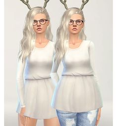 Pure Sims: Long sleeve cotton tunic • Sims 4 Downloads