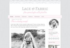 Blogger Template. Lace & fabric. Responsive. by RainyDayBlogDesign