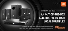 Enjoy a 20% discount on Cinema BD100, a bluetooth powered home theatre. http://jblindia.in/