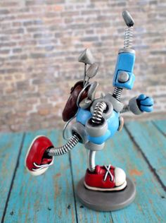 Valentine's Day Robot Cupid Cary Mini Sculpture handmade by HerArtSheloves $40