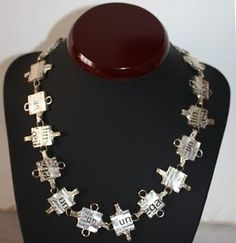 Another stunning designer necklace by Biche de Bere. Small squares engraved with letters and numbers. Letters And Numbers, Necklace Designs, Fashion Necklace, Squares, Jewelry Design, Pendants, Pendant Necklace, My Favorite Things, Diamond