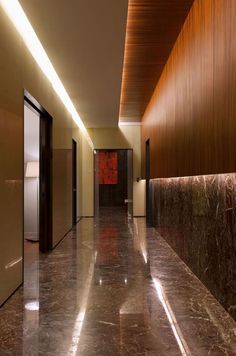 Wood reveal @ ceiling  Pascal Arquitectos, Mexico