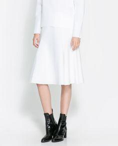 Image 3 of NEOPRENE FLARED SKIRT from Zara