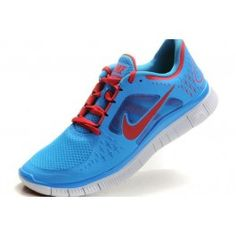 outlet store 36ef9 14f2d Nike Free Run + 3 Men s Sky Blue University Red  sjWb8  Nike Air