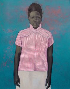 """Amy Sherald Well Prepared and Maladjusted 2008 54"""" × 43"""" Oil on Canvas"""
