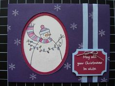 Snowman by thuillier - Cards and Paper Crafts at Splitcoaststampers Stamping Up, Snowman, Paper Crafts, Simple, Cards, Tissue Paper Crafts, Snowmen, Map, Papercraft