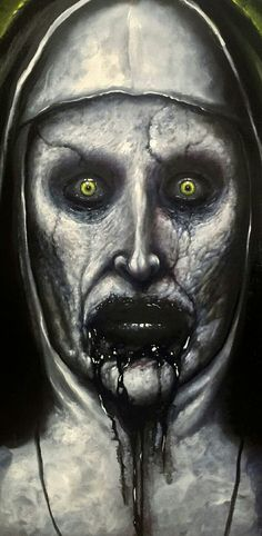 My Valak painting I just finished from the conjuring 2 Horror Movie Characters, Horror Movies, The Conjuring Annabelle, Horror Pictures, Horror Artwork, Illustration, Arte Horror, Creepy Art, Monster Art
