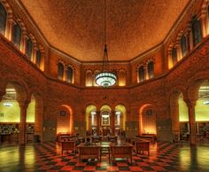 Powell Library, UCLA. One of the most beautiful places in the world. =)