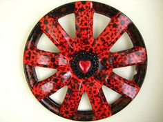 Heart and Flowers by bloominghubcaps on Etsy, $80.00