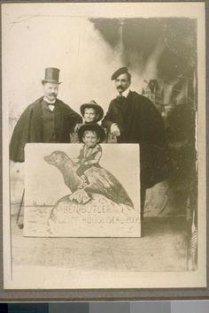 Bruce Porter on right, Robert Waybur on left, the two Waybur boys, Arnold & Julian. (Early 1890s).