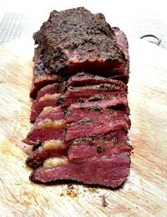 homemade corned beef turned into an outrageously flavorful and tender pastrami…