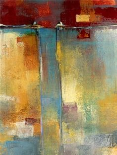 """For years I've noticed that cool abstract on """"The Apprentice"""" in the boardroom--It's Seattle artists Maeve Harris / Substrate"""