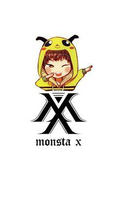 Monsta X Jooheon, Shownu, Hyungwon, Kpop Fanart, Starship Entertainment, Jack Skellington, Boy Groups, Chibi, Anime