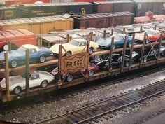 Lost in time 1969 Corvette, Old Corvette, Chevrolet Corvette, Corvette History, Car Carrier, Chevy Muscle Cars, Railroad Photography, Rail Car, Train Pictures