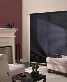 Use two pleated shades on one headrail over a sliding glass door to provide light control and privacy.