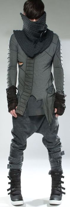 mens, fashion, edgy, young, modern urban, dystopian winter collection, Demobaza, amazing desinger
