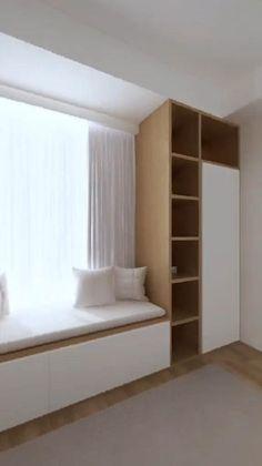 Small Room Design Bedroom, Small House Interior Design, Bedroom Closet Design, Bedroom Furniture Design, Modern Bedroom Design, Home Room Design, Living Room Designs, Apartment Interior, Apartment Design